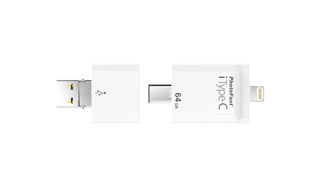 整合了 4 種介面:Lightning、USB Type-C、Micro USB 及 USB Type-A,並且可跨 iOS/Android/PC/MacBook 傳輸備份檔案
