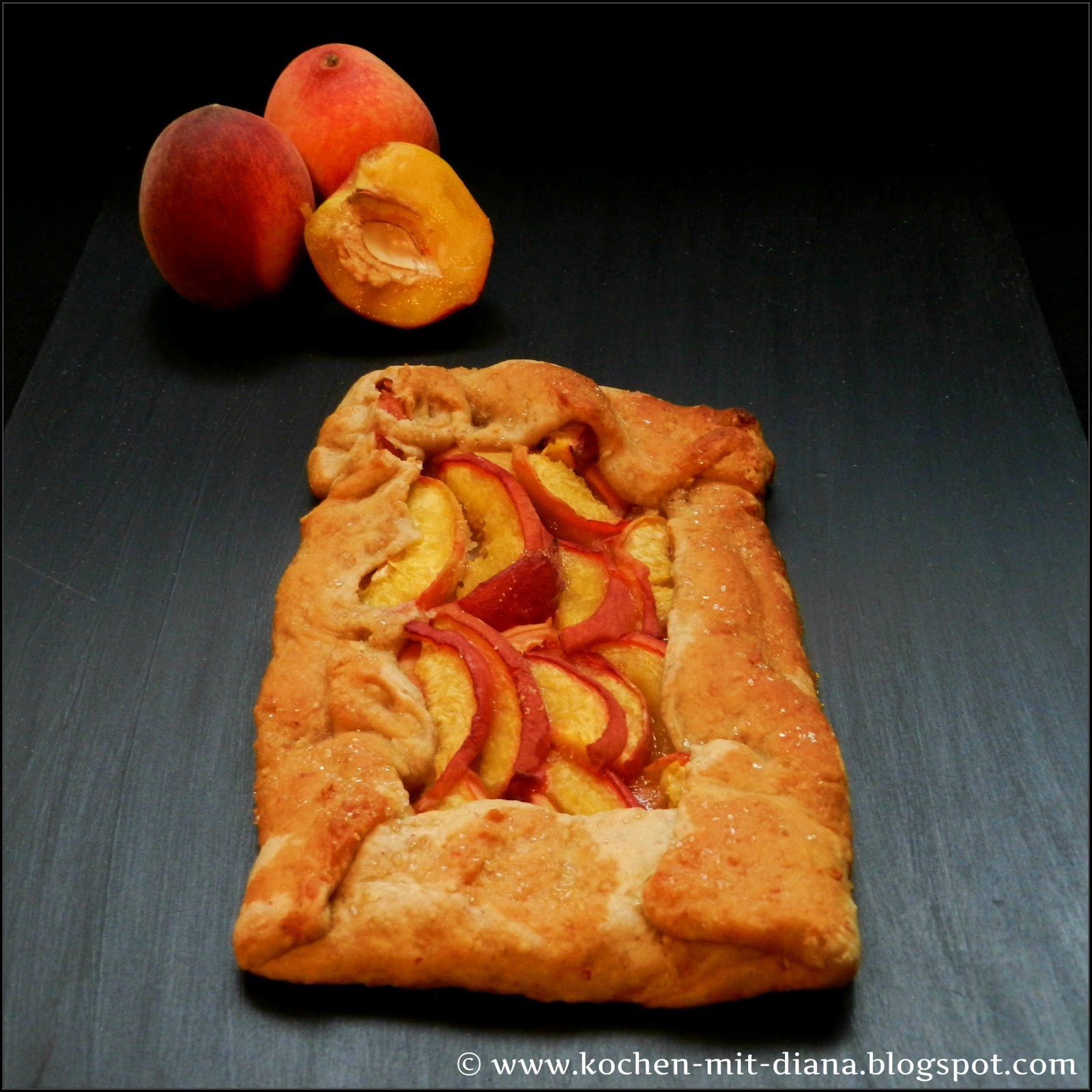 Rustikale Pfirsich Tarte