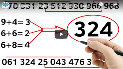 Thai Lottery 3up Single Set magazine Tips 16 May 2019