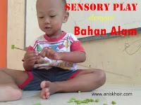 Sensory Play : Meronce Bahan Alam