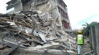 Collapsed three storey building at Ojo Alaba area of Lagos