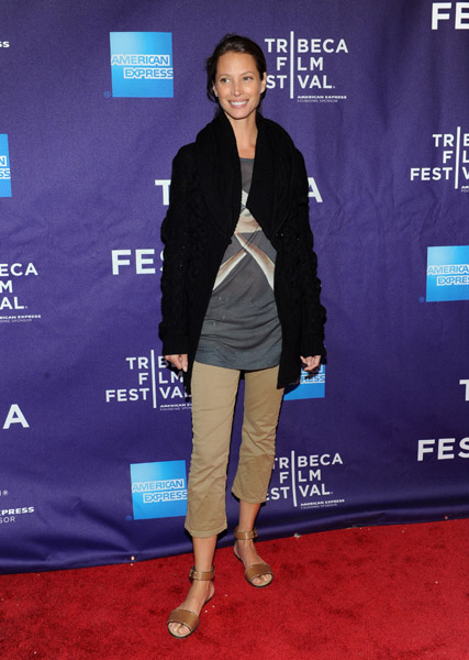 572cabe84 WHO WORE WHAT .....2011 Tribeca Film Festival  Christy Turlington ...