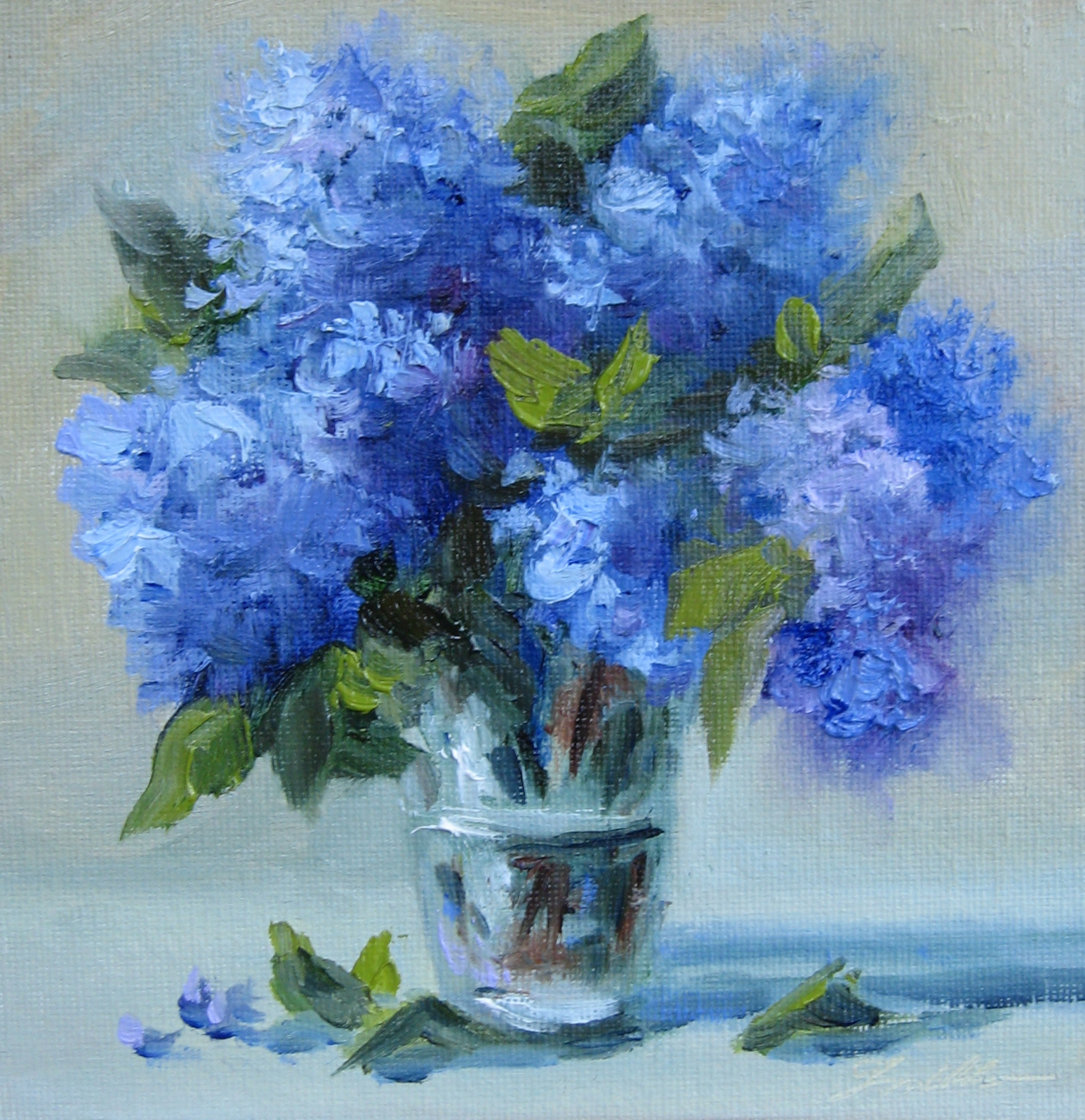 Pat Fiorello - Art Elevates Life: Flower Study #26 Blue ...