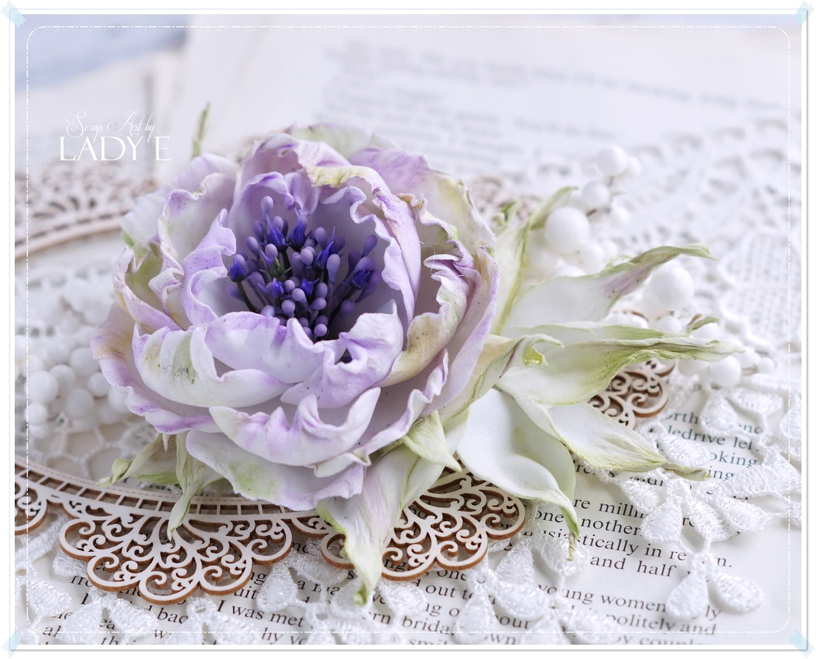 Silk foam shabby chic flower video tutorial scrap art by lady e the flower could be used as a brooch hair clip or embellish your home decor izmirmasajfo