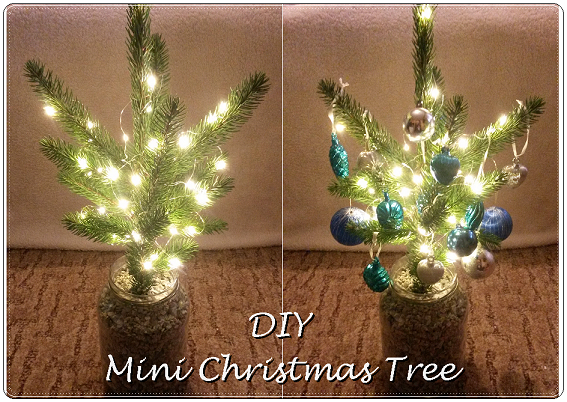 DIY, christmas tree, mini, božićno drvce, božić, lampice, fairy lights, ornaments, baubles, ukrasi, kuglice za bor, uradi sam, easy, simple, quick, jednostavno, brzo, project, projekt, decor, decoration, dekor,