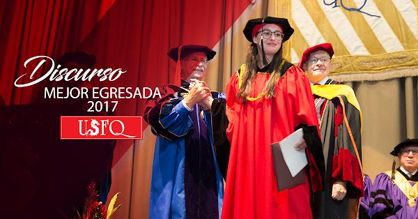 Emotivo discurso de María Gracia Naranjo, mejor egresada de la clase 2017