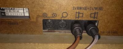 OH2DD Philips retroradion antennikaapeleiden liittimet