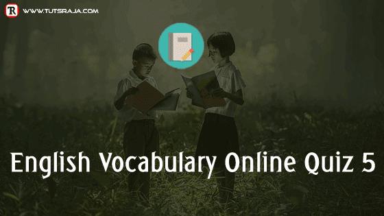 English Vocabulary Online Quiz