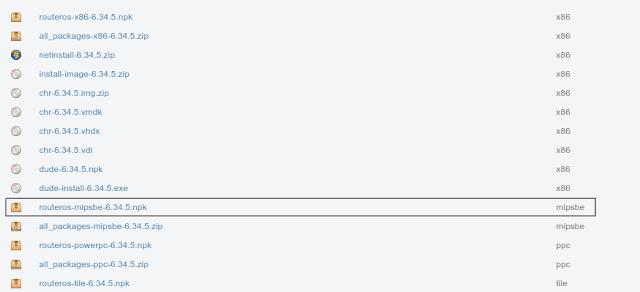 Cara Downgrade RouterOS Mikrotik