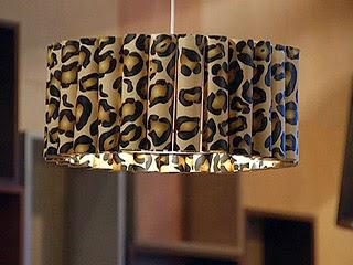 Reciclar tubos de papel film lampara de techo