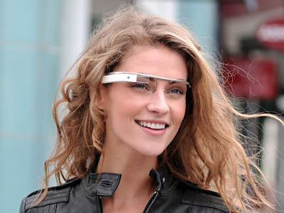 Google Glass Girl Wearing