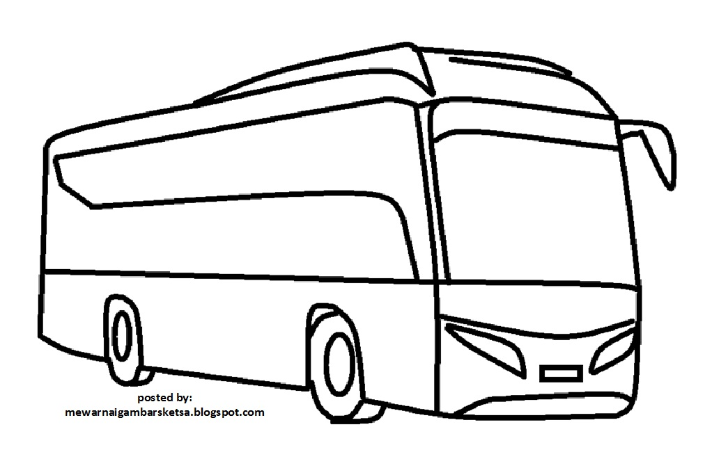 Mewarnai Gambar Mewarnai Gambar Bus 5