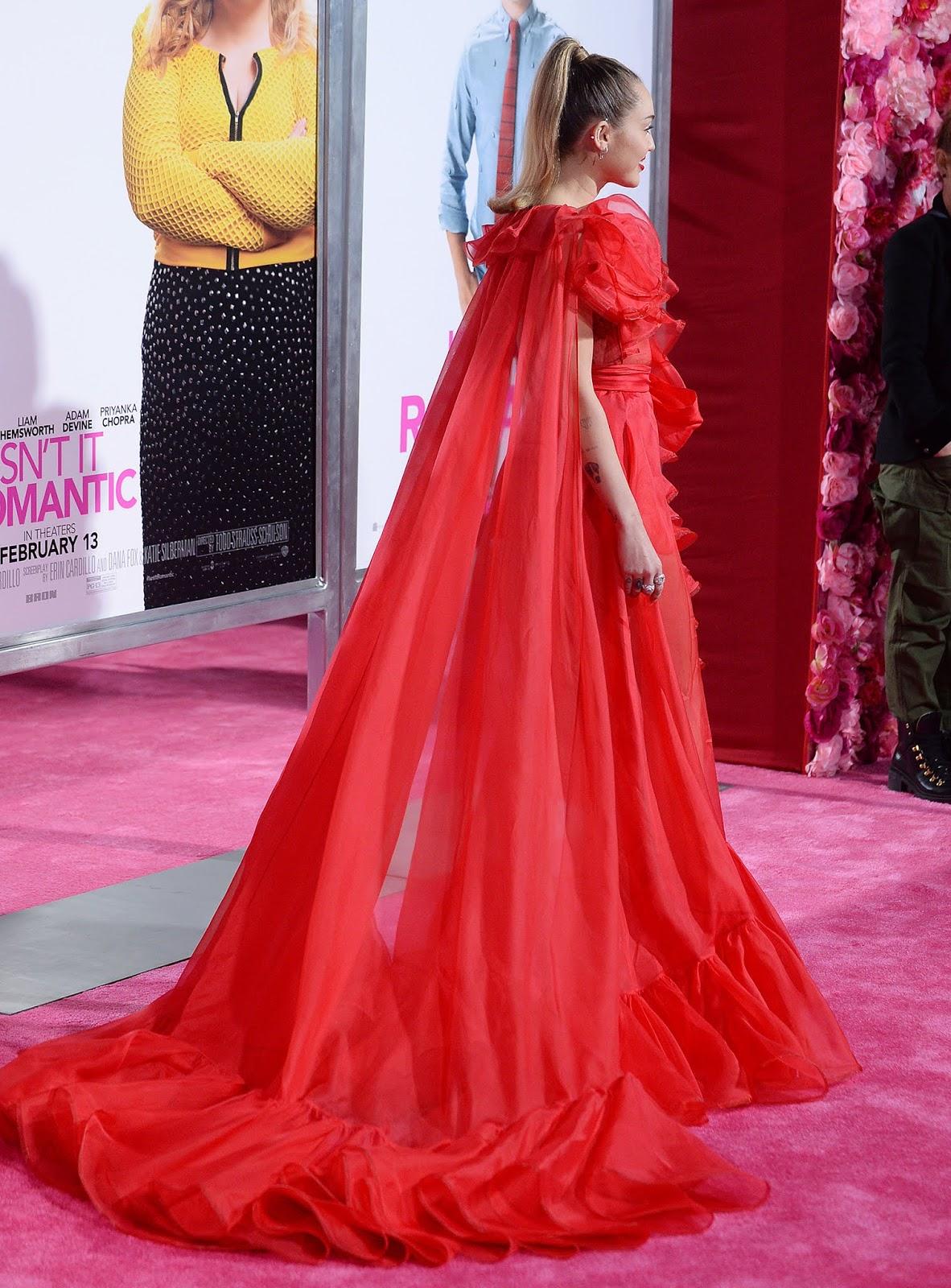 "Miley Cyrus - ""Isn't It Romantic"" Premiere Los Angeles - 02/11/2019"