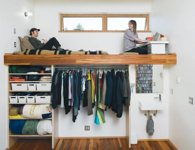 idea para ahorrar espacio en tu habitación