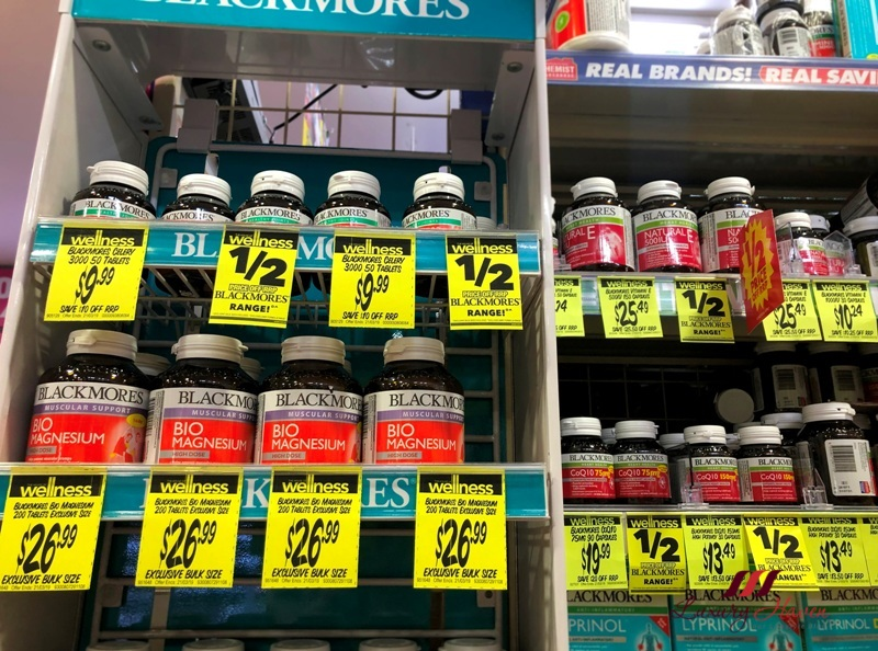 melbourne chemist warehouse blackmores supplements discount