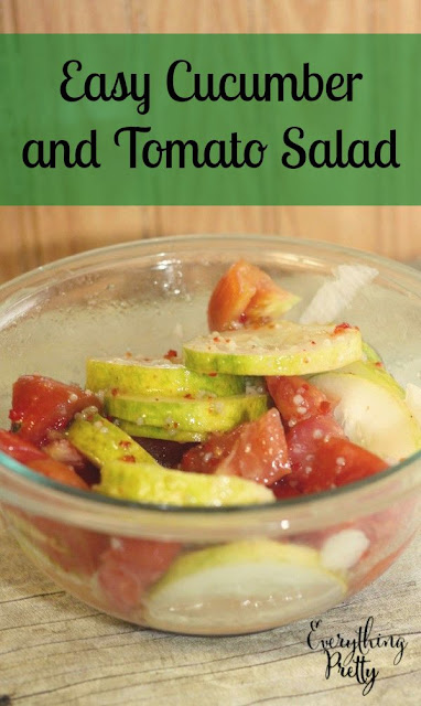 Easy Cucumber and Tomato Salad Side Dish Recipe