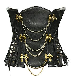 Gothic steampunk underbust corset