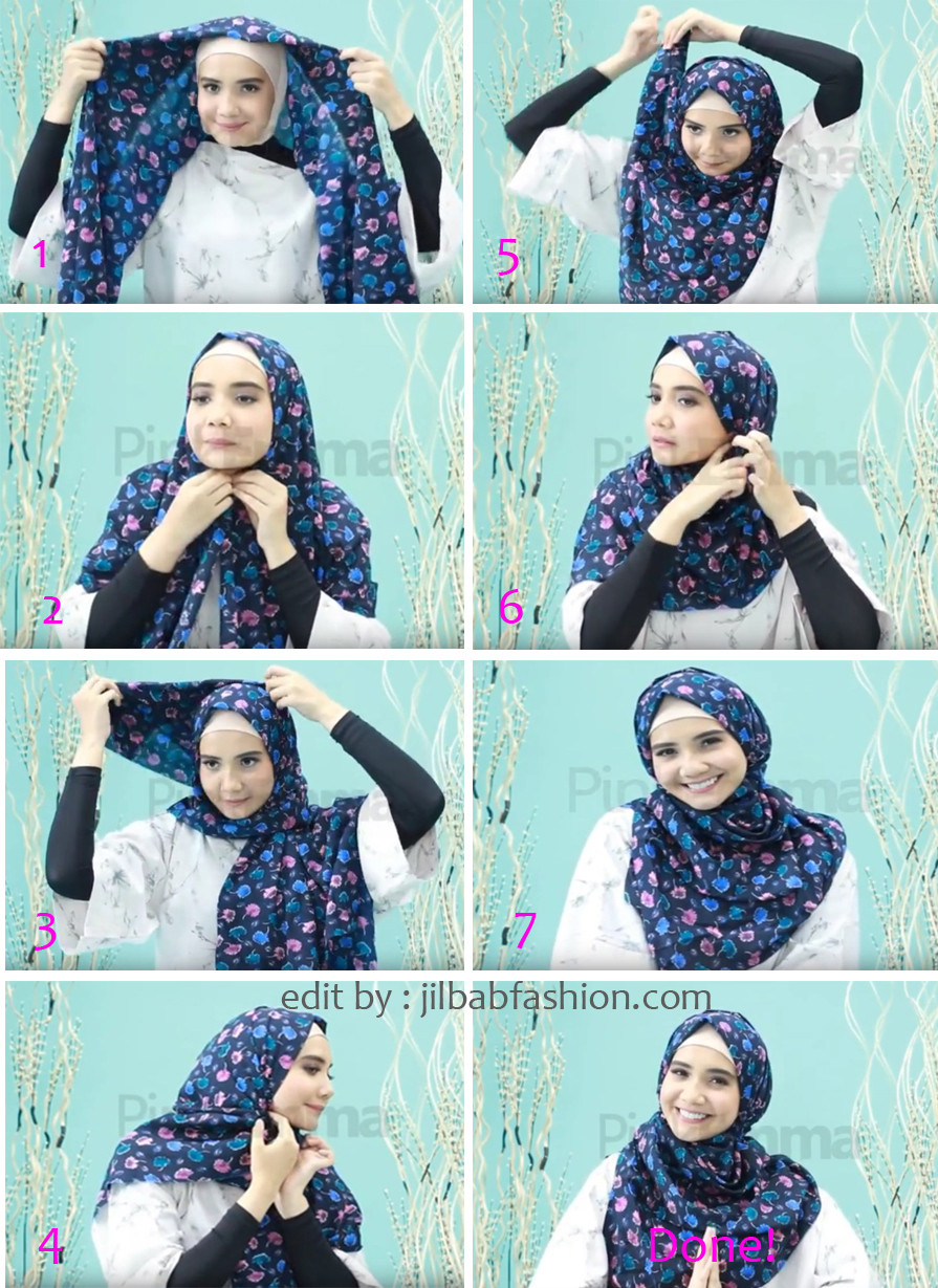 Gambar Tutorial Hijab Segi Empat Simple Zaskia Sungkar Modernhijab77