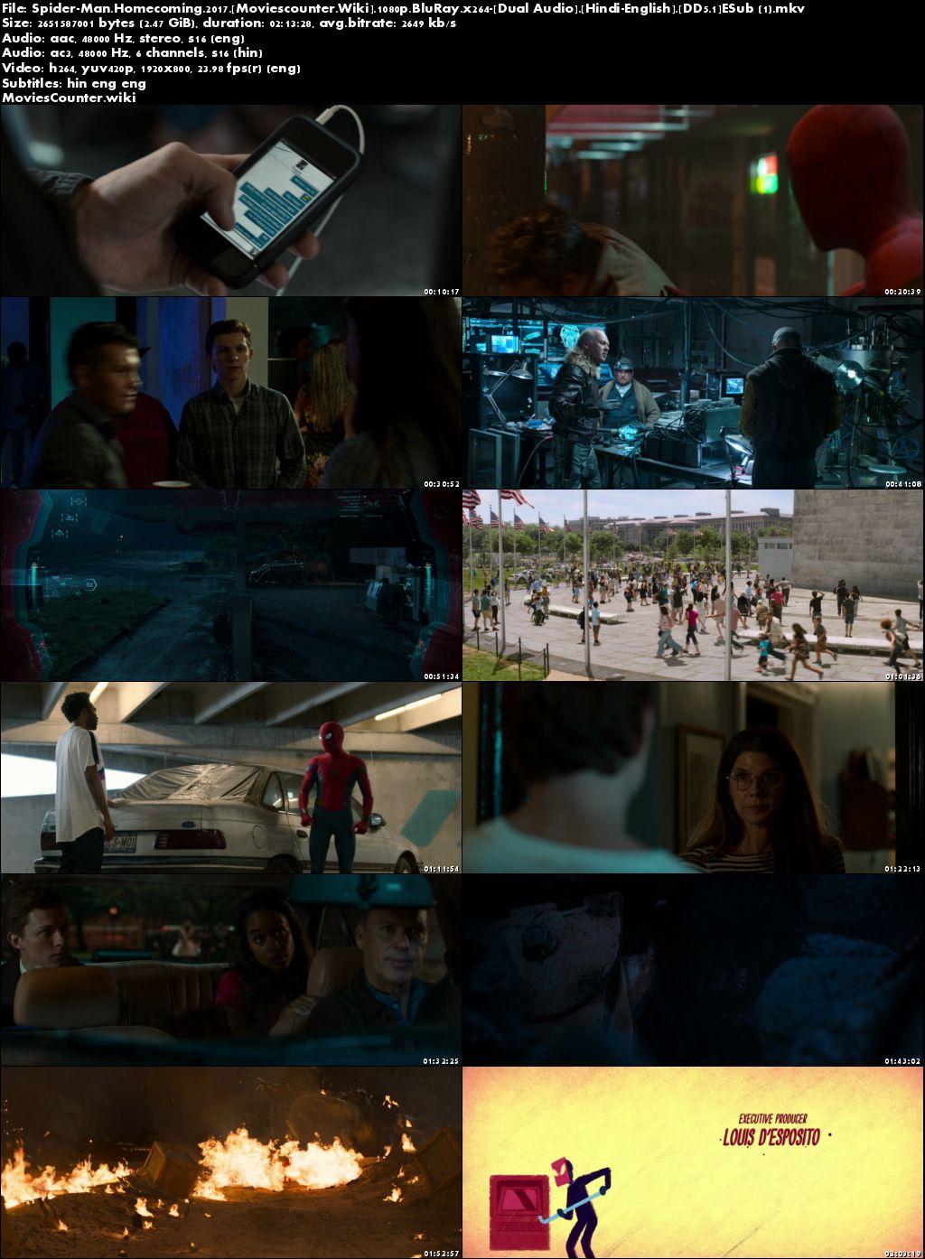 Screen Shots Spider-Man: Homecoming 2017 Dual Audio HD 1080p