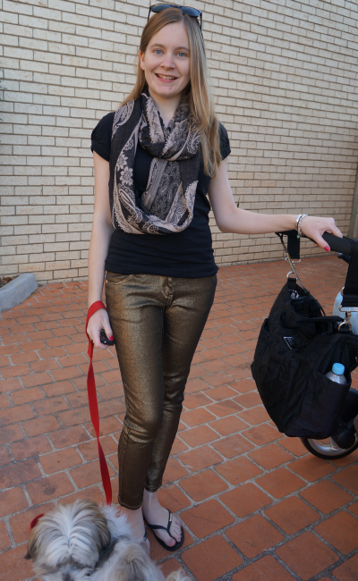 seed heritage paisley print snood black tee sass and bide metallic gold three words jeans