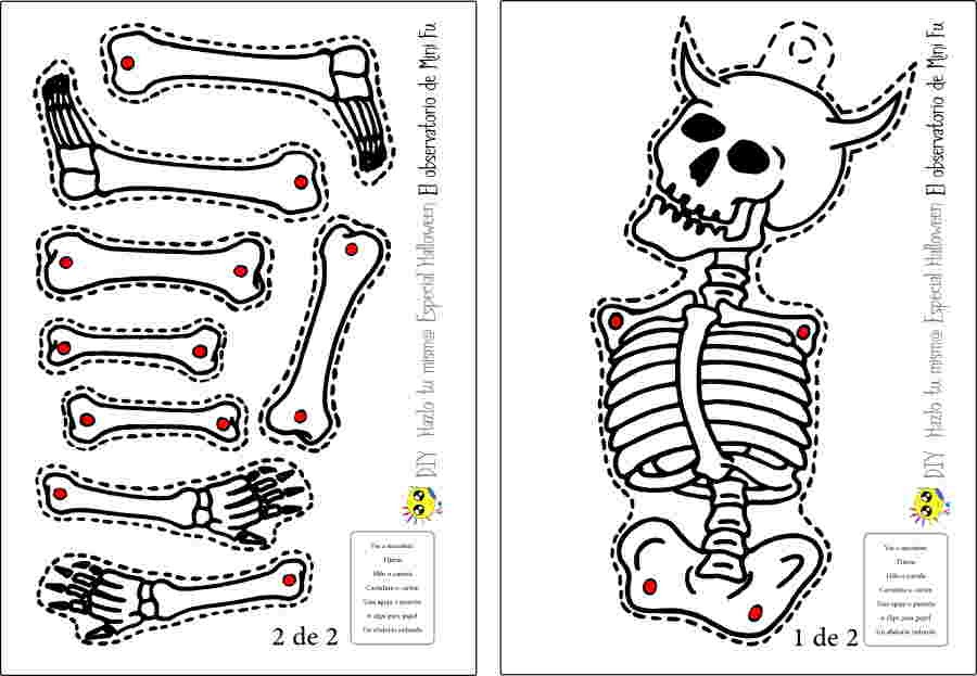 El Observatorio de Mini-Fu: Especial Halloween. Esqueleto móvil DIY