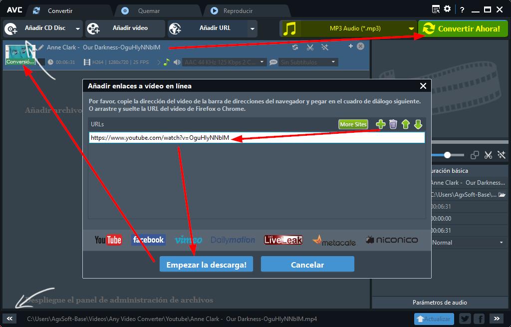 editor de audio y video