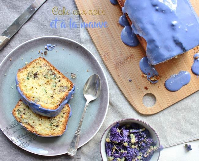 cake noix et mauve