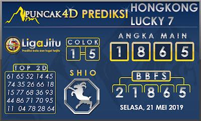 PREDIKSI TOGEL HONGKONG LUCKY7 PUNCAK4D 21 MEI 2019