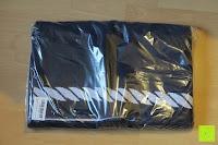 """Plastiktüte: ZOLLNER hochwertiges Strandlaken / Strandtuch / Badetuch 100x200 cm marine-weiß, in weiteren Farben erhältlich, direkt vom Hotelwäschehersteller, Serie """"Marina"""""""