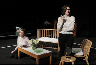 Rosie Middleton and Rebecca Cuddy in A Certain Sense of Order scratch showing at The Cockpit, 7 March 2017. Photo by Claire Shovelton
