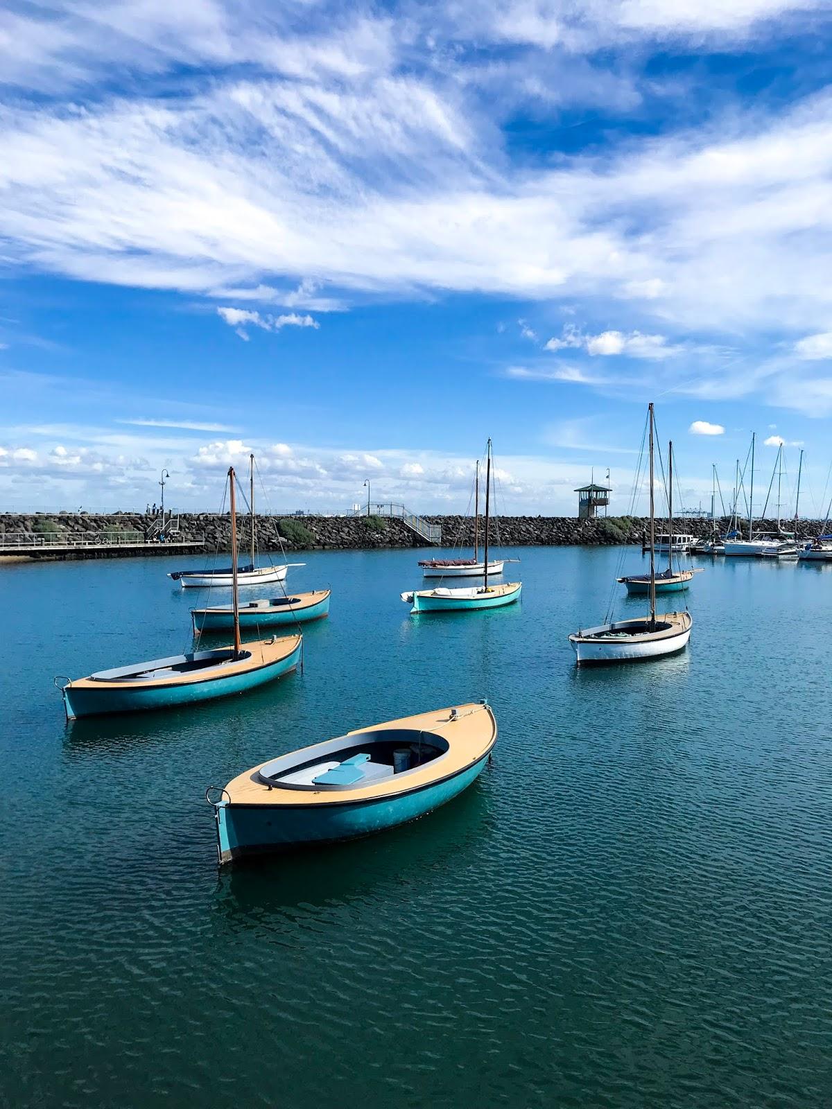 Boats on Water at St Kilda