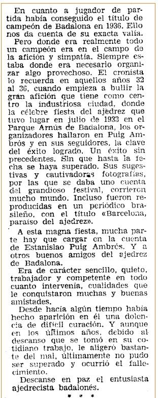 Detalle en Mundo Deportivo con información sobre Estanislau Puig Ambrós