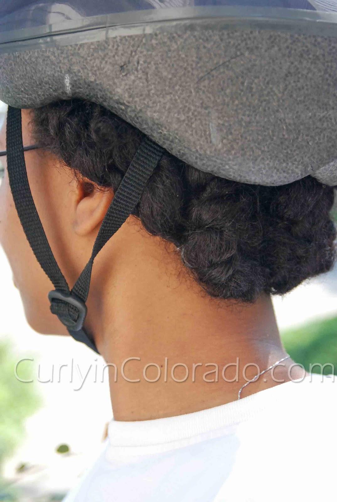 Bike Helmet Natural Hair