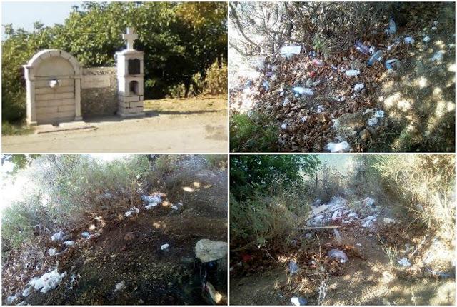 Θεσπρωτία; Ένας μικρός σκουπιδότοπος στην Σαγιάδα (+ΦΩΤΟ)