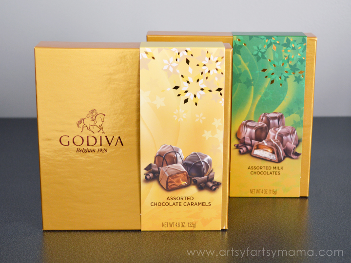Holiday Pampering Gift Basket Idea with GODIVA Gift Boxes at artsyfartsymama.com