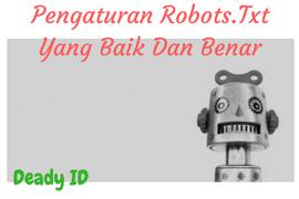 Panduan setting robots txt