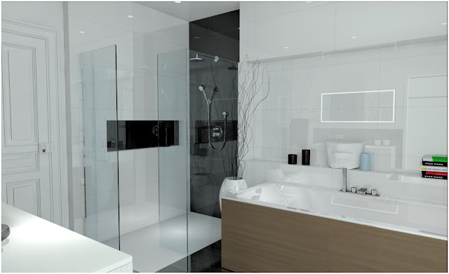 salle de bain 3d. Black Bedroom Furniture Sets. Home Design Ideas