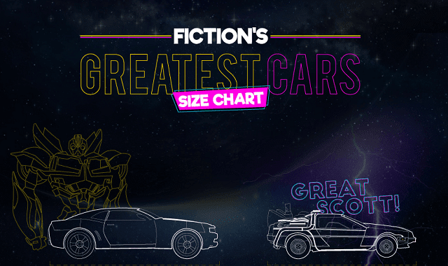 Fiction S Greatest Cars A Size Chart Infographic