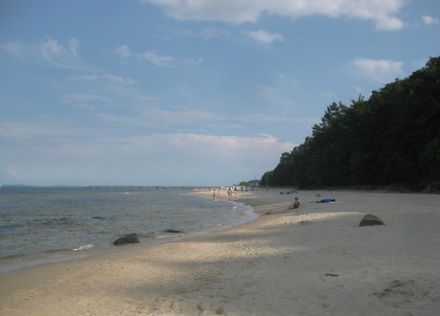 Leerer Strand auf Usedom - ganz im Westen