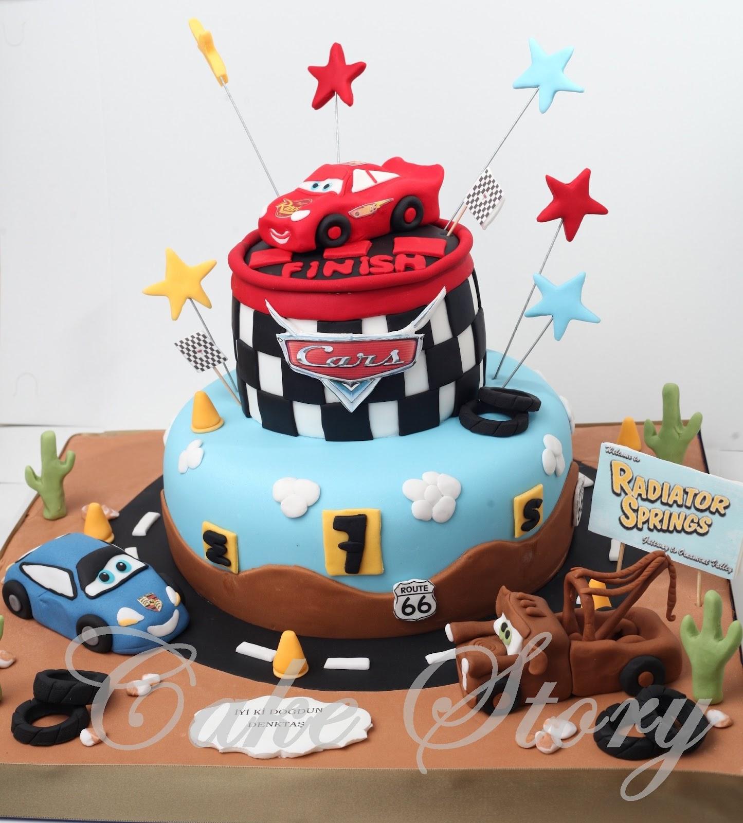 Cake Story D Sney Car Lightning Mcqueen Birthday Cake