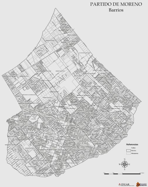 Mapa Barrios de Moreno