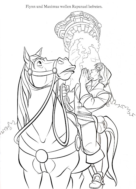 Prince Flynn Coloring Pages Mother Rapunzel Coloring Pages