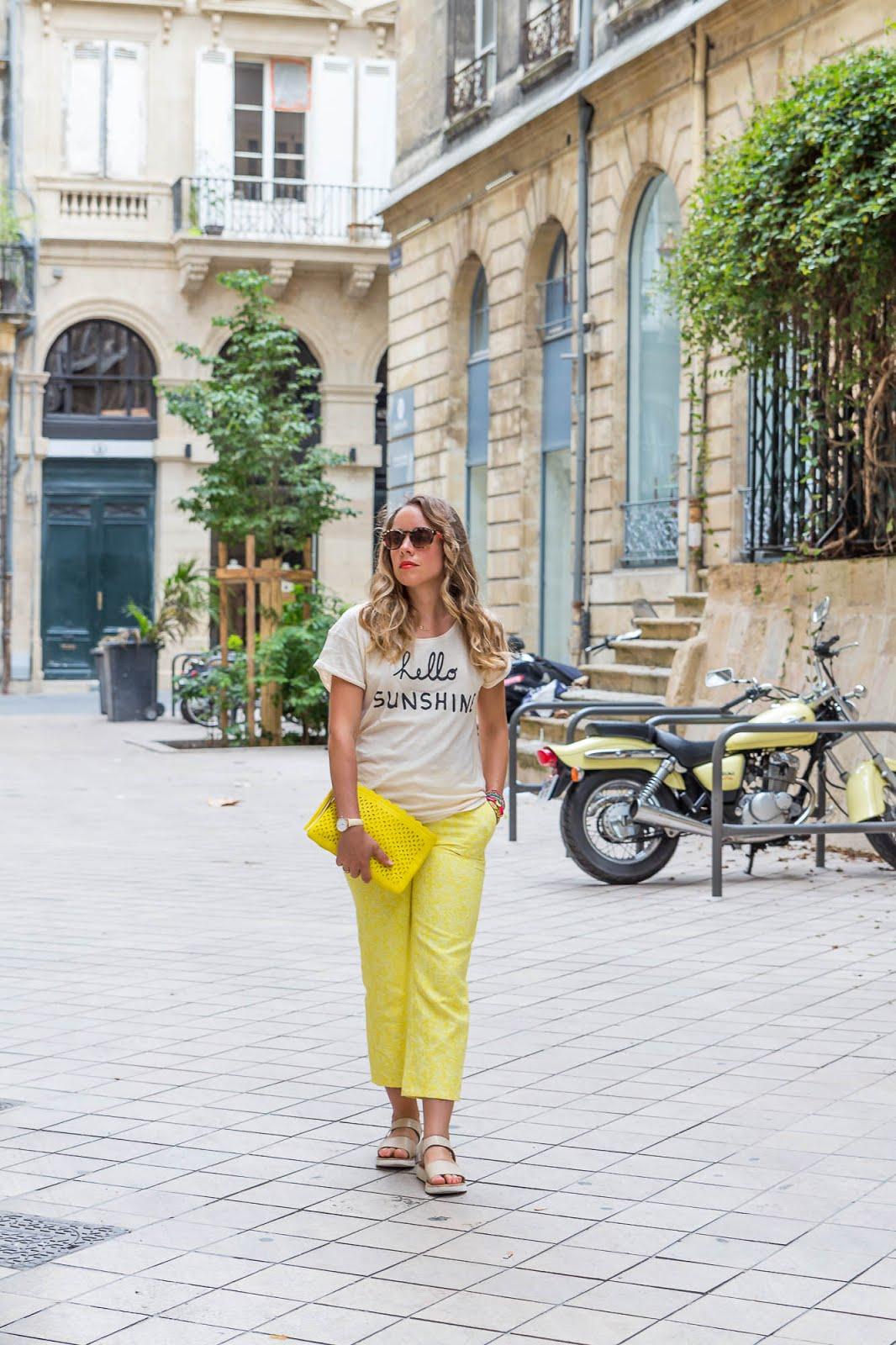 pantalon jaune La Redoute