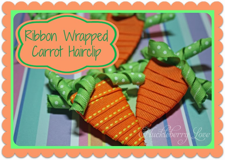 Ribbon wrapped carrot hair clip - Huckleberry Love