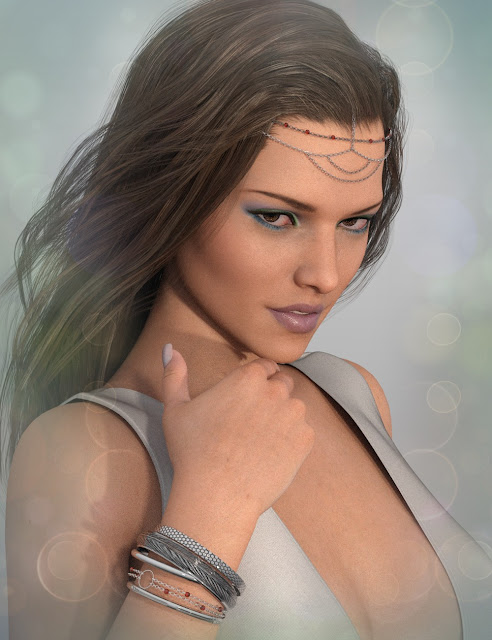 X-Fashion Head Chains for Genesis 3 Female