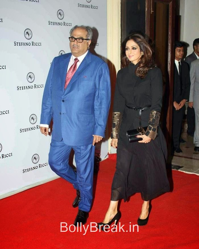 Boney Kapoor, Sridevi, Sridevi Hot Images at The Launch of Stefano Ricci Flagship Store
