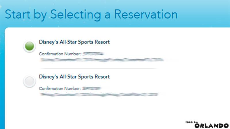 Fazendo Check-in online nos hotéis Disney