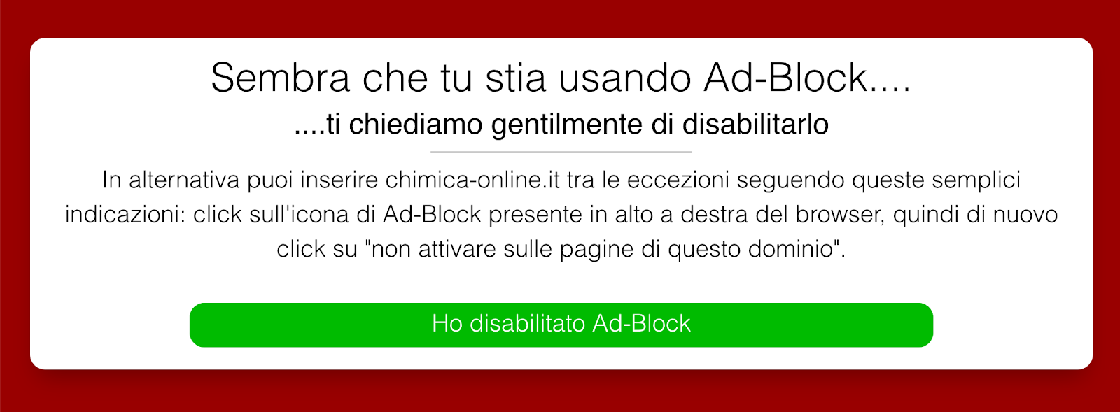 Come disabilitare i blocker degli adblocker