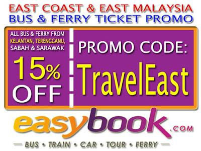 Diskon 15% Tiket Bus Dan Ferry (Dari Kelantan, Terengganu, Sabah Dan Sarawak)