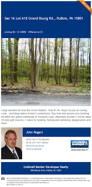 John A Rogers Lot 618 sec 16 grand bourg road treasure lake pa coldwell banker developac realty